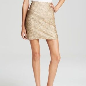 Joie Gold Sequin Skirt